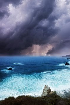 Beautiful sea and stormy sky.