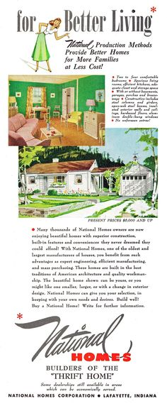 National Homes, 1949