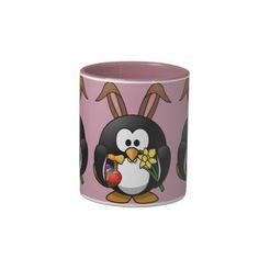 Penguin-Cartoon Easter bunny Mugs