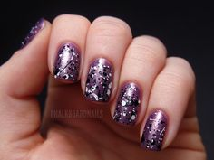 purple splatter, i am in love with this look