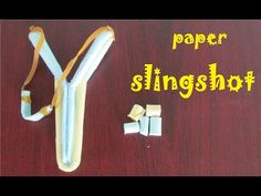 How to make a Paper Slingshot very simple and strong - Toy Weapon - YouTube