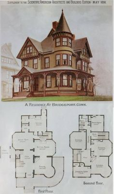 Nice Plan Maison Victorienne that you must know, You?re in good company if you?re looking for Plan Maison Victorienne Victorian House Plans, Vintage House Plans, Victorian Homes, Vintage Houses, Wooden House Plans, Victorian Bath, Victorian Farmhouse, Victorian Cottage, Victorian Interiors