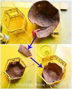 How to make a bird cage planter. Turn a decorate bird cage into an adorable planter with this simple tutorial. Garden Crafts, Garden Projects, Garden Art, Big Garden, Easy Garden, Garden Design, Garden Ideas, Garden Planters, Succulents Garden