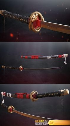 Desire FX | Dragon Katana Robot Concept Art, Armor Concept, Weapon Concept Art, Fantasy Sword, Fantasy Weapons, Fantasy Katana, Ninja Weapons, Anime Weapons, Katana Swords