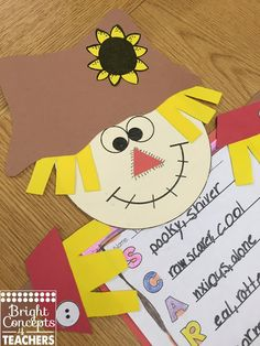 Scarecrow writing craftivity with prompts and all templates. Makes an adorable fall display