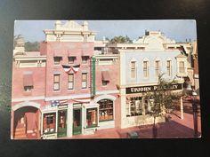 Vintage Disneyland Main Street U.S.A. Postcard - Upjohn Pharmacy by VintageDisneyana on Etsy