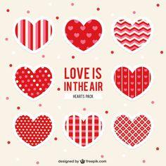 corações para imprimir #printable #free