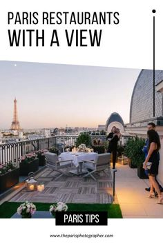 In search of Paris restaurants with a view ? Celebrate your love in any of these beautiful restaurants and see the sun set in the background with a view of Paris landmarks such as the Eiffel Tower, the Arc de Triomphe or even the Notre Dame Cathedral. Here are the best restaurants in Paris with a view. paris photography | paris couples eiffel tower | paris couple ideas. #pariscoupleshoot #parisphotographers #photographersparis #photographerinparis Paris Engagement Photos, Best Restaurants In Paris, Paris Couple, Paris Landmarks, Paris Tips, Girls Love Travel, See The Sun, Couple Ideas, Romantic Photos