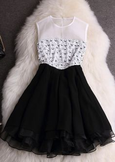 Fashion Organza Sleeveless Vest Dress on Luulla Types Of Dresses, Cute Dresses, Beautiful Dresses, Short Dresses, Prom Dresses, Luulla Dresses, Dress Outfits, Fashion Dresses, Teenage Girl Outfits
