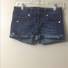 American Eagle Denim Shorts AE denim, super stretch shorts.  Size 0. American Eagle Outfitters Shorts Jean Shorts