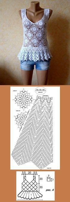 Linda blusa, feita a partir do gráfico de um vestido. http://vk.com/wall-20078137?day=01082013