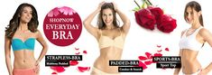 Bra shopping online, ladies underwire bras and cotton bras