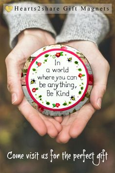 """In a world where you can be anything, Be kind."" This meaningful quote on a beautiful handcrafted magnet is the perfect daily reminder in a crazy world. Brighten up a dreary work cubicle or locker. Any surface can be a thought provoking accent. Gifts For Wife, Gifts For Friends, Gifts For Her, You Can Be Anything, Kindness Quotes, Foam Crafts, Work Cubicle, Inspirational Gifts, Meaningful Quotes"