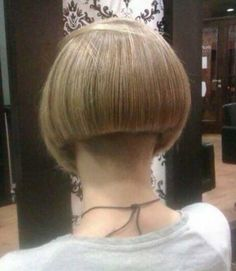 buzzed nape bob haircut  for all ages