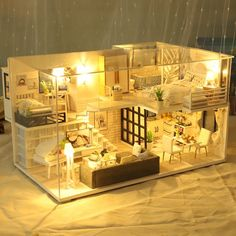 Tiny House Layout, Tiny House Design, House Layouts, Tiny Furniture, Miniature Furniture, Wooden Furniture, Diy Dollhouse, Dollhouse Miniatures, Dollhouse Melanie