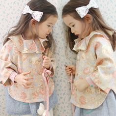 2014 spring flower cloak girls clothing baby child top long-sleeve outerwear wt-2376 $17.58