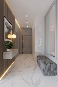 Find here organic materials and unique furniture ideas to inspire your next interior decor project. Foyer Design, Hallway Designs, Entrance Design, Hall Design, House Entrance, House Design, Design Design, Room Interior, Interior Design Living Room