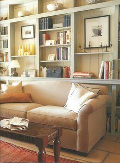 living room shelves ©Pottery Barn