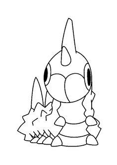 Le mignon Pokémon insecte Chenipote à colorier