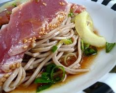 Soba Noodles with Seared Tuna & Soy Mirin Dressing