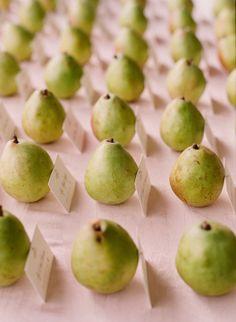 pears wedding decor wedding photo by Elizabeth Messina Photography