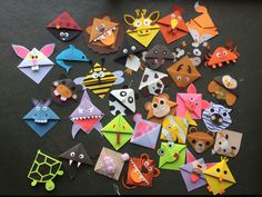 Cute animal corner bookmark fun activity for kids, cute gift idea