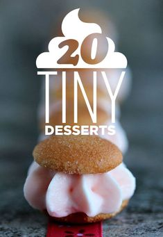 Snack on these mini desserts, which might be better than their full-sized versions. Plus, find out how to make these irresistible mini desserts for yourself! Mini Desserts, Small Desserts, Bite Size Desserts, Party Desserts, Just Desserts, Delicious Desserts, Mini Dessert Recipes, Healthy Desserts, Dessert Ideas For Party