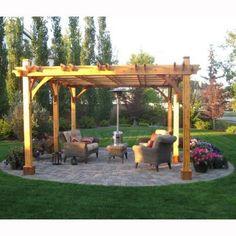 Outdoor Living Today Breeze Cedar 12 ft. x 20 ft. Pergola-BZ1220 - The Home Depot