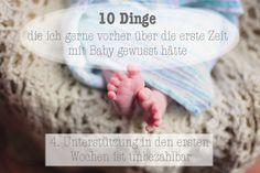 10 Dinge über die erste Zeit mit Baby - Unterstützung in den ersten Wochen ist unbezahlbar