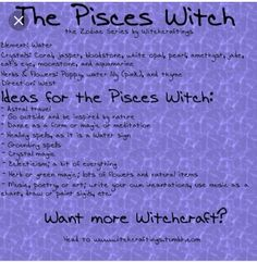 I actually had to google this one I couldn't find it on Pinterest. Pisces witch