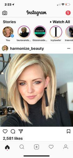 New Hair Color Bright Blonde Ideas Medium Hair Cuts, Medium Hair Styles, Short Hair Styles, Haircut Medium, Hair Color And Cut, Haircut And Color, Volume Haircut, Hair Affair, Great Hair