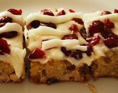 Starbucks Cranberry Bliss Bars...I am so addicted to these things