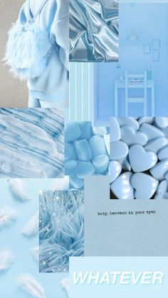 Baby blue aesthetic phone wallpaper
