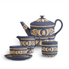 Spectacular set of Wedgwood Jasperware. It looks very old.