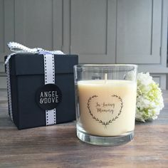 In Loving Memory Funeral Remembrance Candle. Memory Table or Gift Boxed Sympathy Gift. Funeral, In Loving Memory Gifts, Large Gift Boxes, Memory Table, Printed Balloons, Sympathy Gifts, Condolences, Wedding Reception Decorations, Biodegradable Products