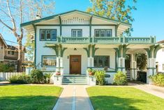 History and romance, as this historic Alhambra Craftsman was the childhood home of Mrs. Norman Rockwell, the site of their garden nuptials in the spring of 1930 and later owned by the Ralphs of the famed supermarket dynasty. Classic front porch, beautiful living room with built ins, moldings and decorative fireplace opens to dining room and light filled enclosed sun porch, separate kitchen, den and office or two possible first floor bedrooms and one bath complete the downstairs. Upstairs ...