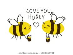 Bee Quotes, I Love Bees, Cute Puns, Bee Cards, Cute Bee, Animal Sketches, Bee Happy, Statements, Diy Canvas