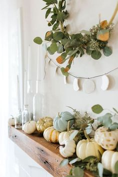 Halloween is a fun time to play dress-up and entertain friends and trick-or-treaters. Getting your home into the Halloween spirit doesn't have to be hard, and you don't have to go over the top. A few little touches of Halloween… Continue Reading → Halloween Mantel, Halloween 2018, Halloween Fashion, Diy Halloween Decorations, Thanksgiving Decorations, Seasonal Decor, Modern Halloween Decor, Thanksgiving Mantle, Shabby Chic Halloween Decor