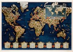 Spectacular Philips Radio pictorial map, 1935  Issued by Philips Radio, this spectacular pictorial features an outline map of the world, with each conti... - Boston Rare Maps Inc - Google+