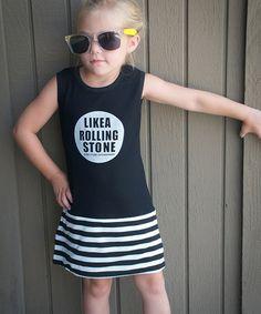 Look at this #zulilyfind! Black 'Rolling Stone' Dress - Toddler & Girls by POP Couture #zulilyfinds