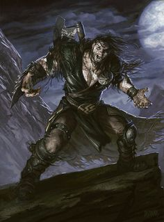 Garruk, the Veil-Cursed Fantasy Warrior, Fantasy Rpg, High Fantasy, Medieval Fantasy, Magic The Gathering, Mtg Planeswalkers, Art Magique, Mtg Art, Concept Art World