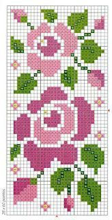 Las chorradikas de Laury: Patrones flores punto de cruz