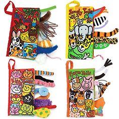 Malloom® colas animales libro de tela bebé de juguete Desarrollo Libros Aprendizaje y Educación libros