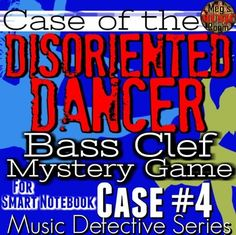 """BASS Clef SMARTBRD GAME Music Detective 4""""Case of the Diso"""