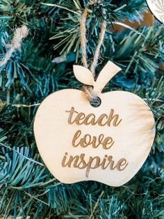 So many options to choose from. These can be used as a tag on a gift & then used as an ornament later. Personalized Wood Signs, Personalized Ornaments, Wood Tray, Business Signs, Letter Wall, Name Signs, Laser Engraving, Teacher Gifts, Cake Toppers