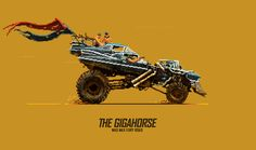 The Gigahorse - Mad Max: Fury Road - Misha Petrick & Evgeniy Yudin Mad Max Fury Road, Rick And Morty Tattoo, Anime Pixel Art, Pixel Animation, 8 Bit Art, Pixel Games, Gif Animé, Game Design, Concept Cars