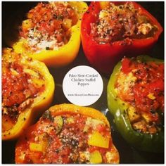 Paleo Chicken-Stuffed Peppers.