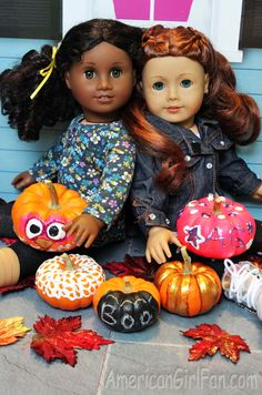 Doll Craft: Mini Pumpkin Painting Fun!