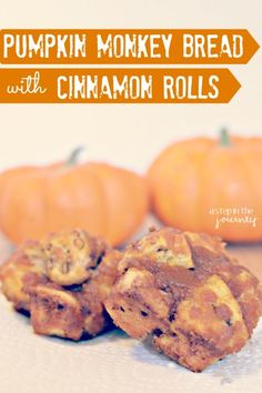 Amazing Pumpkin Monkey Bread using Pillsbury Cinnamon Rolls....full recipe and it seems really easy! Perfect for the FALL!!