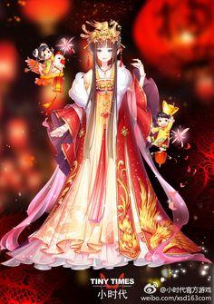 堆糖-美好生活研究所 Character Outfits, Character Art, Character Design, Magna Anime, Anime Chibi, Anime Art, Anime Girl Dress, Image Manga, Beautiful Anime Girl